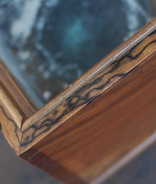 黒柿 孔雀杢 江戸の手あぶり火鉢