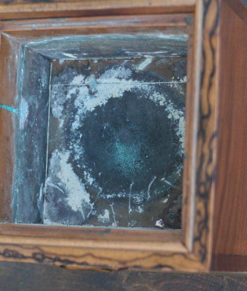 孔雀杢が見える 火鉢