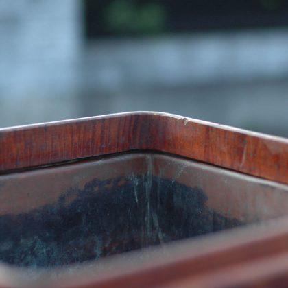 トチノキの虎杢の稀有な火鉢