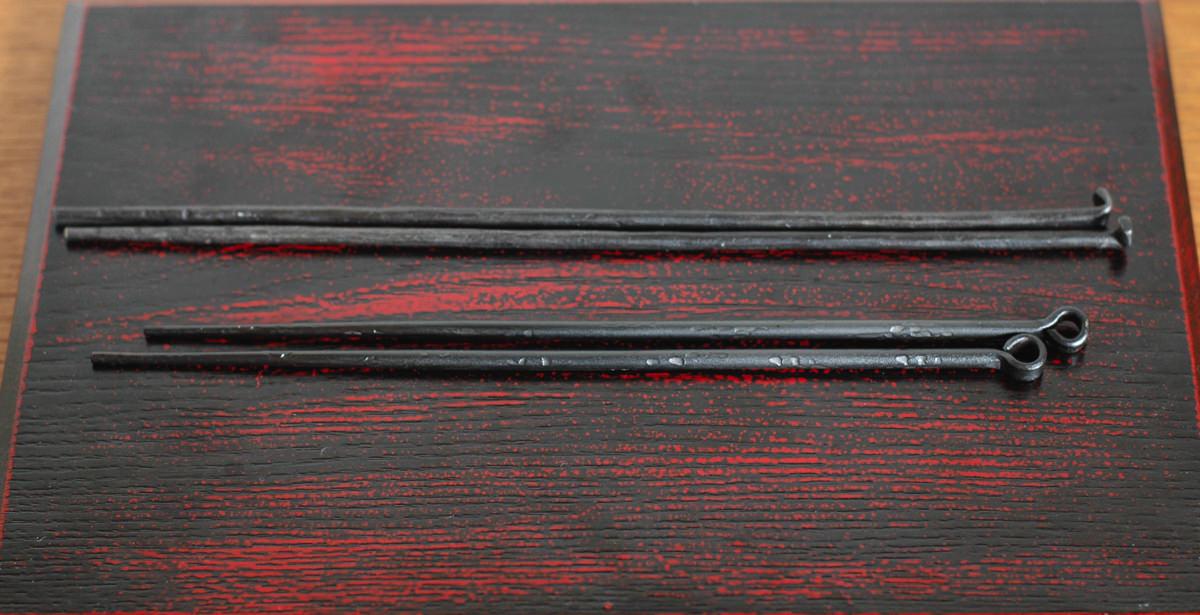 鋳心ノ工房の火箸と鍛冶火箸