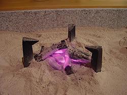 お客様の囲炉裏 なら灰