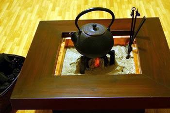 お客様の杉火鉢