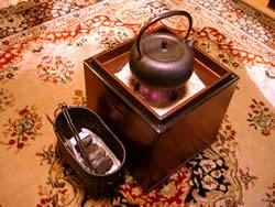 ケヤキの手焙火鉢