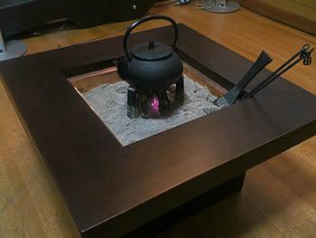 ・杉火鉢セット、鉄瓶兼用急須5型新アラレ (岐阜県 O様)