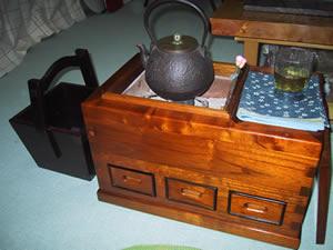 火鉢と炭取木箱