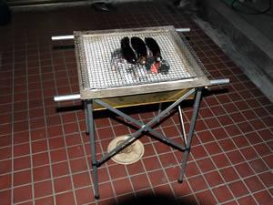 お客様の火鉢・囲炉裏道具