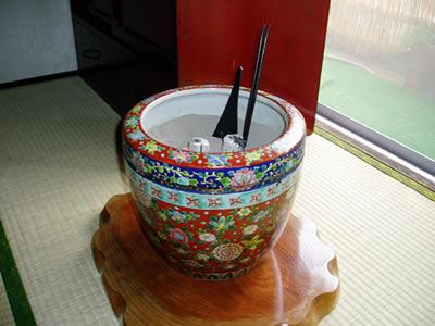 お客様の火鉢とお道具