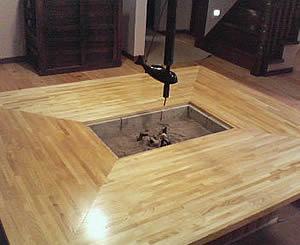 お客様の囲炉裏テーブル