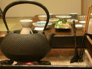 関東火鉢と鉄瓶
