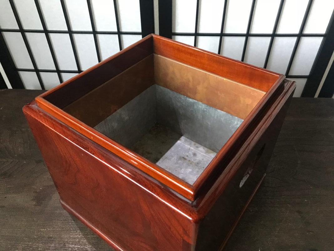 明治時代の新品ケヤキ火鉢
