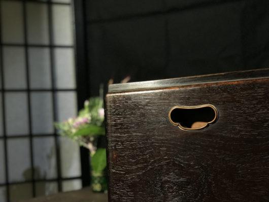 総黒檀の火鉢