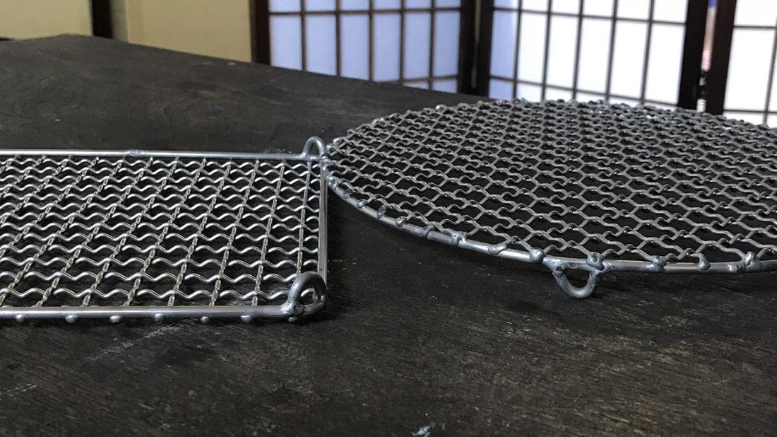 中村さんの手編みステンレス網
