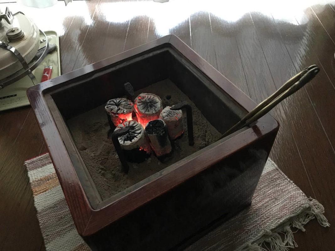 お客様の火鉢の写真