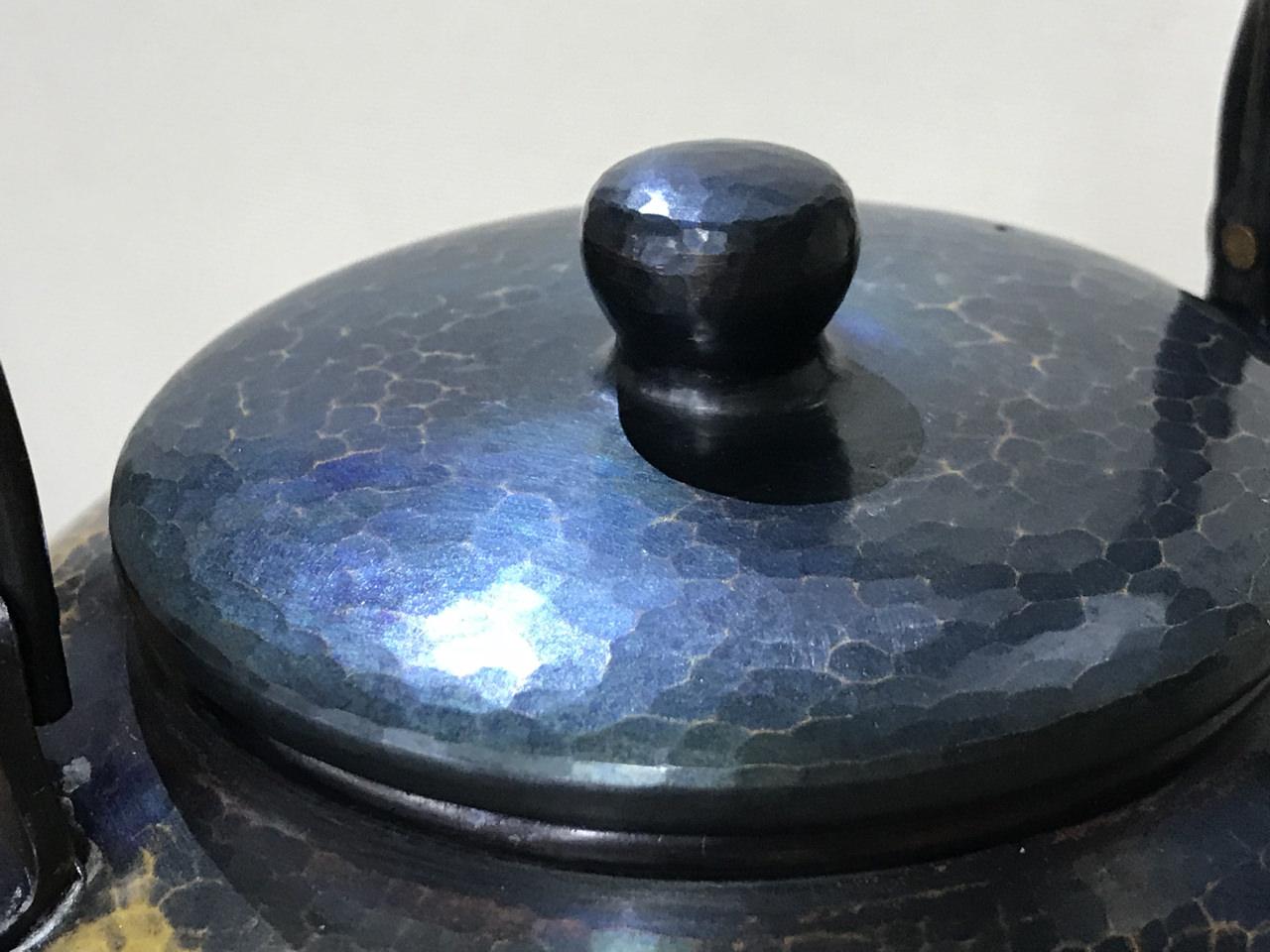 清徳堂 藍染銅瓶の画像