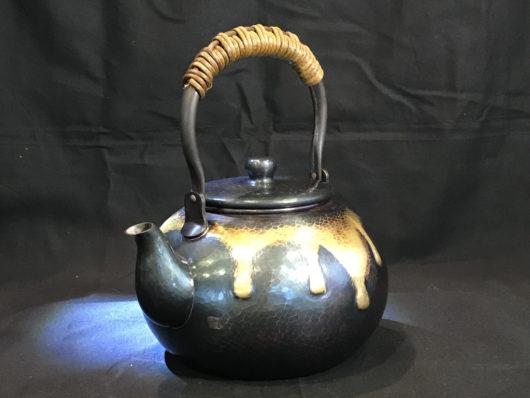 清徳堂 藍染銅瓶