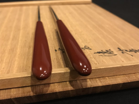 岡本専助 純銀の火箸