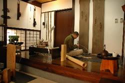 竹の工芸 よしだ 工房の様子