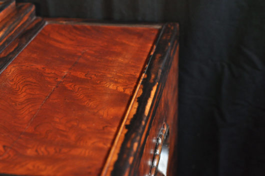 欅の最大サイズの江戸長火鉢