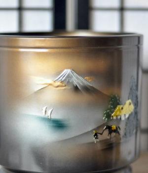 手あぶり火鉢 第317弾 昭和10年ころのブリキの火鉢の画像