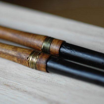 桑の火箸(火鉢・囲炉裏・お茶道具)